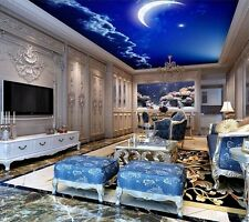 3D Wallpaper Ceiling Bedroom Star Sky Earth Moon Mural Stereo Background Wall TV