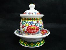 Offering Bowl Chinese Buddhist Altar Offering Buddha Porcelain Cup w/Lid Tea NEW
