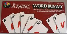 VINTAGE SCRABBLE WORD RUMMY CARD GAME 1987 USA 100% COMPLETE VGC WITH SCORECARDS