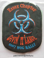 Harley Davidson HOG Essex Chapter 2007 Rally Patch. New. FREE UK P&P!