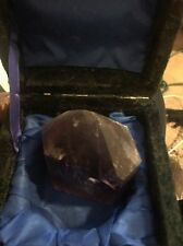 Amethyst Purple,Violet 6 Sided Polished Point Natural Stone With Case