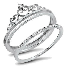 USA Seller Tiara Ring Sterling Silver 925 Best Deal Clear CZ Jewelry Size 6