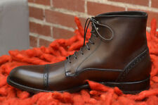 $800+ Antonio Maurizi Perforated Boots 46 EU 13 US TMORO Burnished NEW Cap-Toe