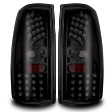 99-06 Chevy Silverado/99-02 GMC Sierra Black/Smoke LED Tail Lights Pair