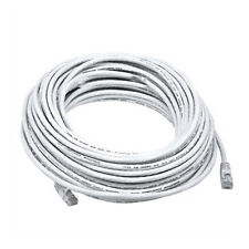 50FT White Cat5e 350MHz UTP RJ45 Ethernet Bare Copper Network Cable
