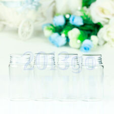 4PCS 50ml Small Tiny Clear Empty Glass Bottles Vials With Screw Caps 37x70mm CG