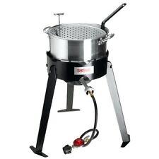 Aluminum Deep Fryer Cooker 10-Quart Pot Basket Tripod Stand Gas Propane BBQ New