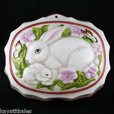"Moule Ancien Lapins FRANKLIN MINT Porcelaine ""Le Cordon Bleu"" Paris/jelly mould"