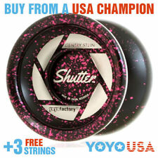 YoYoFactory Shutter Yo-Yo - Splash Black w/ Pink World Champion + FREE STRINGS