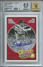 2005 Upper Deck Baseball Heroes Stan Musial SP # 45/49 Autograph BGS 8.5 Auto 10