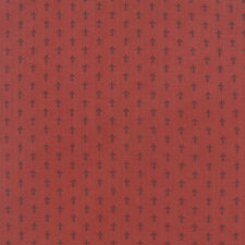 LE MARAIS~FRENCH GENERAL~BY 1/2 YD~MODA~13736-11~TINY FLEUR DE LIS ON ROUGE RED