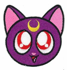 Sailor Moon Cat Purple iron on/sew on Embroidered Patch Applique DIY (US Seller)