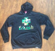 PINK DOLPHIN JAPANESE CAMO CROSS HOODIE JACKET IN BLACK SIZE XL XLARGE!!!