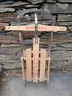 VINTAGE Wooden Snow Sledge 40x22 Flexible Flyer SPEEDY Sled GREAT Condition