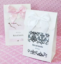 144 Personalized Elite Damask Wedding Favor Bags Candy Buffet Boxes Q11571