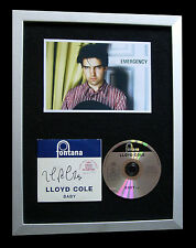 LLOYD COLE+SIGNED+FRAMED+RATTLESNAKES+STANDARDS=100% GENUINE+EXPRESS GLOBAL SHIP