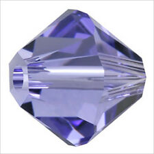 Lot de 40 perles Toupies SWAROVSKI 4mm Tanzanite