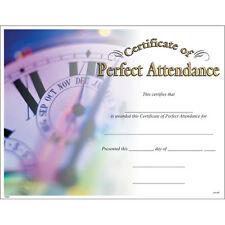 Certificate of Perfect Attendance, Pack of 15
