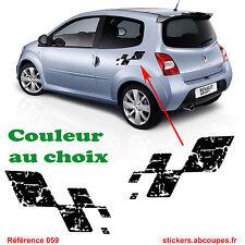 Kit Stickers Bas de caisse Damier Destructuré - autocollant - 059