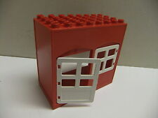 lego DUPLO red BIG BUILDING use for HOUSE FARM FIRE STATION for figures 8X4 STUD