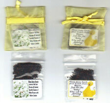 """25 """" BABY """" SHOWER FAVORS"""" NEW BIG BIRD YELLOW with  BABY'S BREATH SEEDS + POEM"""