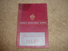 1949 Packard Golden Anniversary Factory Original Owners Manual Exceptional Cond.