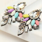 2016 New Elegant women gorgeous bib statement mixed crystal long 36mm Earrings