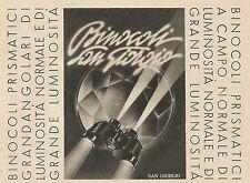 W5443 Binocoli SAN GIORGIO - Pubblicità 1943 - Advertising