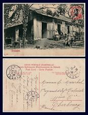 SOUTHEAST ASIA SINGAPORE FAMILY SCENE POSTED FROM TONKIN MAY 1908 TO CHERBOURG