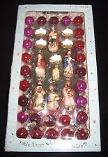 """A Tree for Me"" Tabletop Christmas Tree w/39 Nativity/Round Ornaments/Boxed Set"