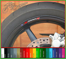 8 x BMW S1000R wheel rim decals stickers - Choice of Colours - sport s 1000 r rr