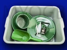 Deluxe Gold Panning Kit 2-Pans-Screen-Scoop-Magnet-Snuffer-Tub-Vials-Tweezer