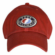 Grateful Dead Oval Red Bolt Tour Alumni Music Rock Band Osfm Adjustable Hat Cap