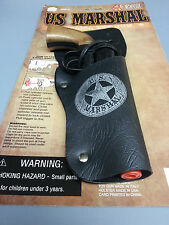 US MARSHAL TOY CAP GUN PISTOL HOLSTER WITH ORANGE TIP LENGTH 9""