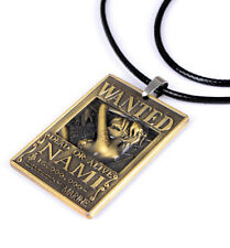 Anime One Piece Wanted Nami Necklace Pendant