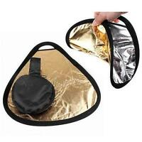 New 2in1 30cm Gold/Silver Portable Folding Handheld Photograph Reflector  Z
