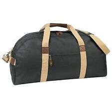 "24"" Large Travel Duffel Bag Deluxe Sports Carry On Travel Bag Black and Khaki"