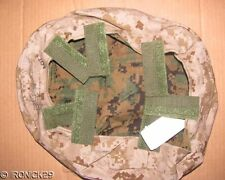NWT USMC Helmet Cover Reversible Woodland & Desert Digital MEDIUM / LARGE