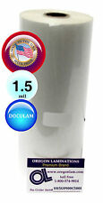 """Doculam Hot Laminating Film 9"""" x 500' on 1"""" core 1.5 Mil Made in USA [1 Roll]"""