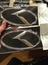 Kia Sportage 3.0 K Emblem 3D Cooltrade Chrome And Black 2 Piece Set