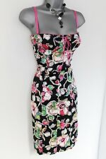 Stunning River Island Floral Corset Wiggle Evening Occasion Dress Size 12