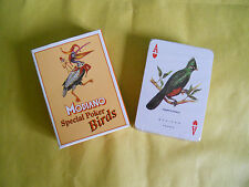 MODIANO-LE CARTE DA GIOCO-SPECIAL POKER BIRDS-CARTE ILLUSTRATE-MAZZO SIGILLATO