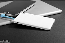 3100 mAh Ultra Thin Credit Card Power Bank built in charge cable Backup Battery