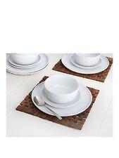 Bhs Embossed Ripple White 12-piece Porcelain Dinner Set