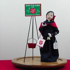 Byers Choice Caroler Woman W/ Bell Salvation Army Kettle 1996 Cape Christmas