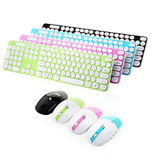 New 2.4G Optical Wireless Keyboard and Mouse  Kit For PC  Random Color