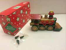 "Lot of 5 6"" Wooden Christmas Train Incense/Scent Burner w/ Scented Cones NWB"