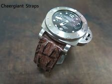 Panerai big horn crocodile watch strap band cheergiant hand made custom straps