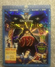 Snow White and the Seven Dwarfs (Blu-ray/DVD, 2009; 3-Disc) NEW w/ Slipcover OOP