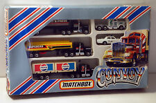 DTE RARE 5PC MATCHBOX CONVOY G-4 GIFT SET W/PEPSI CONTAINER TRUCK FROM 1982 NIOP